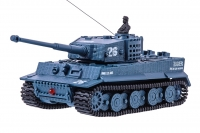 Танк микро со звуком на радиоуправлении модель 1:72 Tiger (серый) 30150