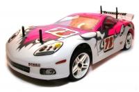 Машинка на радиоуправлении гоночная модель Шоссейная 1:10 Himoto NASCADA HI5101 Brushed (розовый) 29691