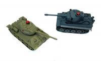 Танковый бой на радиоуправлении 1:32 HuanQi 555 Tiger vs Т-34. 30279