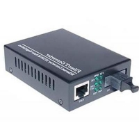 Медиаконвертер Merlion 10/100Base-TX to 100Base-F 1310нм, SM, SC/RJ-45, 25 км + БП (HTB-3100A / 1310_WDM). 47096