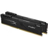 Модуль памяти для компьютера HyperX DDR4 16GB (2x8GB) 2666 MHz HyperX Fury Black (Kingston Fury) (HX426C16FB3K2/16). 42937