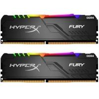 Модуль памяти для компьютера HyperX DDR4 16GB (2x8GB) 3200 MHz HyperX FURY RGB (Kingston Fury) (HX432C16FB3AK2/16). 42939
