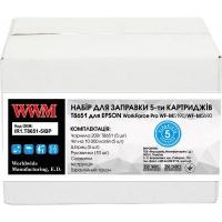 Заправочный набор WWM Epson WorkForce Pro WF-M5690/WF-M5190 (5 заправок) Black (IR1.T8651-5/BP). 43820