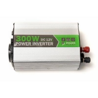 Автомобильный инвертор PowerPlant 12V/220V 300W, USB 5V 1A, HYM300-122 (KD00MS0001). 41743