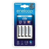 Зарядное устройство для аккумуляторов Panasonic Basic Charger New + Eneloop 4AAA 750 mAh NI-MH (K-KJ51MCC04E). 44626
