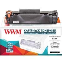 Картридж WWM для HP LJ P1005/P1006, Canon 712 аналог CB435A (LC35N). 43605
