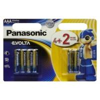 Батарейка Panasonic AAA LR03 Evolta * 6(4+2) (LR03EGE/6B2F). 47891