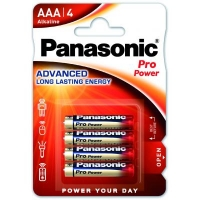 Батарейка Panasonic AAA LR03 Pro Power * 4 (LR03XEG/4BP). 47391