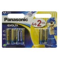 Батарейка Panasonic AA Evolta LR6 * 6(4+2) (LR6EGE/6B2F). 47890