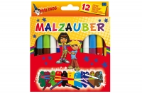 Волшебные фломастеры меняющие цвет набор 12 (10+2) шт MALINOS Malzauber 30066