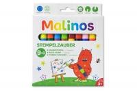 Набор 9 (9+1) шт штампы-фломастеры волшебные меняющие цвет MALINOS Stempelzauber 30092