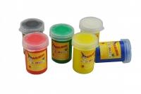 Пальчиковые краски непроливаемые 6 цветов безглютеновые MALINOS Fingerfarben 30069