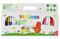 Волшебные фломастеры меняющие цвет MALINOS Malzauber 25 (12+9+4) шт 30067