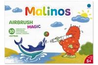 Набор 10 (8+2+1) шт безопасные фломастеры-аэрографы  волшебные MALINOS BLOpens Magic 30089