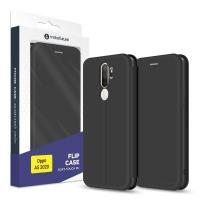 Чехол для моб. телефона MakeFuture Oppo A5 2020 Flip (Soft-Touch PU) Black (MCP-OPA520BK). 45156