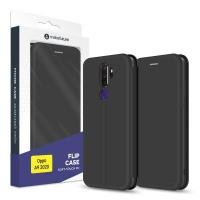 Чехол для моб. телефона MakeFuture Oppo A9 2020 Flip (Soft-Touch PU) Black (MCP-OPA920BK). 45157