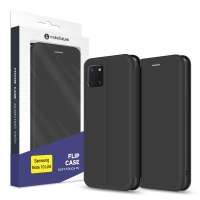 Чехол для моб. телефона MakeFuture Samsung Note 10 Lite Flip (Soft-Touch PU) Black (MCP-SN10LBK). 45178