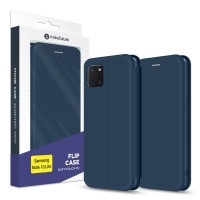 Чехол для моб. телефона MakeFuture Samsung Note 10 Lite Flip (Soft-Touch PU) Blue (MCP-SN10LBL). 47441