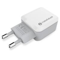 Зарядное устройство MakeFuture 2 USB (2.4 A) White (MCW-21WH). 44939