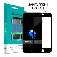 Стекло защитное MakeFuture 3D Apple iPhone 7/8 Black (MG3D-AI7/8B). 45011