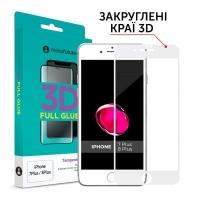 Стекло защитное MakeFuture 3D Apple iPhone 7 Plus/8 Plus White (MG3D-AI7P/8PW). 45010