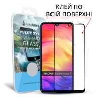 Стекло защитное MakeFuture для Xiaomi Redmi Note 7 Black Full Cover Full Glue (MGFCFG-XRN7). 45036