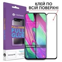 Стекло защитное MakeFuture Samsung A40 (A405) Full Cover Full Glue (MGF-SA405). 45021