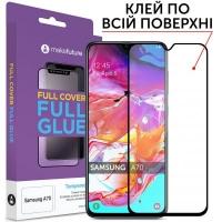 Стекло защитное MakeFuture для Samsung A70 (A705) Black Full Cover Full Glue (MGF-SA705). 45035