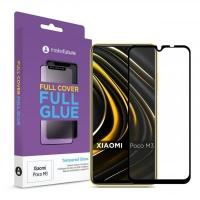 Стекло защитное MakeFuture Xiaomi Poco M3 Full Cover Full Glue (MGF-XPM3). 45029