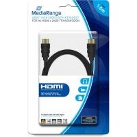 Кабель мультимедийный HDMI to HDMI 1.8m V2.0 Mediarange (MRCS156). 47341