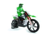 Машинка на радиоуправлении гоночный вездеход модель Мотоцикл 1:4 Himoto Burstout MX400 Brushed (зеленый) 29701