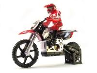 Машинка на радиоуправлении гоночный вездеход модель Мотоцикл 1:4 Himoto Burstout MX400 Brushed (красный) 29702