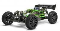Машинка на радиоуправлении гоночный джип вездеход модель Багги 1:8 Himoto Firestorm N8XB NITRO (зеленый) 29705