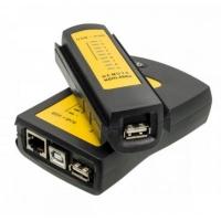 Тестер кабельный Merlion (NSHL468U) RJ-45 + USB. 44109