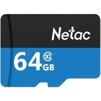 Карта памяти Netac 64GB microSD class 10 UHS-I U1 (NT02P500STN-064G-R). 44728