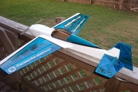 Самолёт на радиоуправлении Precision Aerobatics Katana Mini 1020мм KIT (синий). 30271