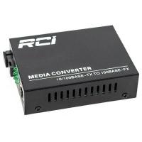 Медиаконвертер RCI 100M, 20km, SC, RJ45, Tx 1550nm, standart size metal case (RCI902W-FE-20-R). 47090