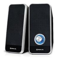 Акустическая система REAL-EL S-80, USB, black. 44496