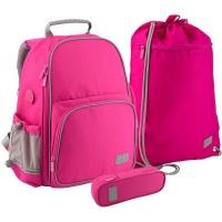 Рюкзак школьный Kite Smart 720-1 набор розовый (SET_K19-720S-1). 45785