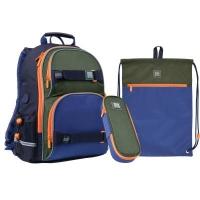 Рюкзак школьный Kite Wonder WK 702 Набор сине-зеленый (SET_WK21-702M-2). 45786