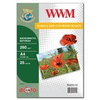 Бумага WWM A4 (SM260.25). 48692