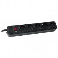 Сетевой фильтр питания Maxxter SPM5-G-15B чорний, 4.5 м кабель, 5 розеток (SPM5-G-15B). 46445