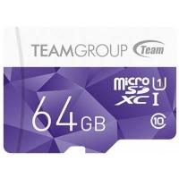 Карта памяти Team 64GB microSD Class10 UHS-I (TCUSDX64GUHS02). 44761