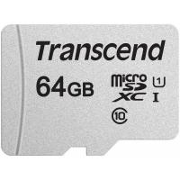 Карта памяти Transcend 64GB microSDXC class 10 UHS-I U1 (TS64GUSD300S). 48302