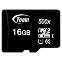 Карта памяти Team 16GB microSDHC class 10 UHS-I (TUSDH16GCL10U02). 47405