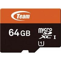 Карта памяти Team 64Gb microSDXC class 10 (TUSDX64GUHS03). 44762