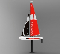 Яхта на радиоуправлении VolantexRC V791-1 Compass 650мм RTR. 30740