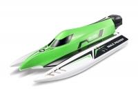 Катер бесколлекторный на радиоуправлении модель WL Toys WL915 F1 High Speed Boat (зеленый) 30165