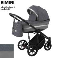 Детская коляска 2 в 1 с люлькой и прогулочная для новорожденных трансформер Adamex Rimini Tip RI-5. 31092