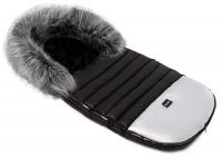 Зимний детский конверт Bair Polar premium  черный - серебро кожа. 31359